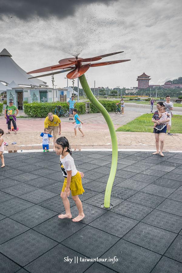 台北親子景點-免費玩水.玩沙.溜滑梯【大佳河濱公園】