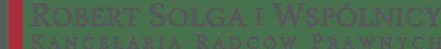 Logo Robert Solga i Wspólnicy Kancelaria Radców Prawnych