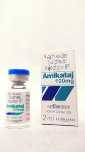 Taj Pharmaceuticals as Manufacturer of Amikacin Sulphate Injection USP 100mg/2ml