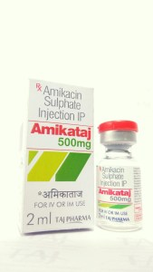 Amikacin Sulphate Injection USP 500mg/2ml manufacturer in India, Amikacin Sulphate Injection USP Amikacin Sulphate Injection USP 500mg/2ml manufacturer in India Amikacin Sulphate Injection USP 500mg/2ml manufacturer in India {Taj Pharmaceuticals}; best quality supplier and exporter of Amikacin Sulphate Injection USP