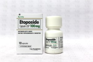 Etoposide Capsule USP 100mg Taj PharmaTaj Pharmaceuticals manufactures a wide range of pharmaceuticals formulation involving Tablets / Capsules / Injections and Orals. Taj Pharma India teamhas an excellent expertise in manufacturing and export of Etoposide Capsule USP. Taj Pharmaceuticals has performed these business activities related to exports of Etoposide Capsule USP for major foreign-affiliated pharmaceutical import companies, ministry of health, tenders etc. and have enjoyed the full confidence of these companies, instructions and governments.