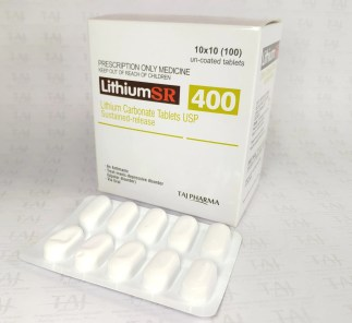 leading Lithium Carbonate Tablets manufacturers in India brings the best-quality products. Taj Pharmaceuticals company carries the rich experience in the niche manufacturing of Lithium Tablets. Taj Pharmaceuticals is reputed manufacturer and Lithium Carbonate Tablets suppliers Taj Pharmaceuticals, one of the leading Lithium Carbonate Tablets USP Sustained-release 400mg (Lithium SR) manufacturers in India brings the best-quality products. Taj Pharmaceuticals company carries the rich experience in the niche manufacturing of Lithium Carbonate Tablets USP Sustained-release 400mg (Lithium SR). Lithium Carbonate SR 400mg Tablets