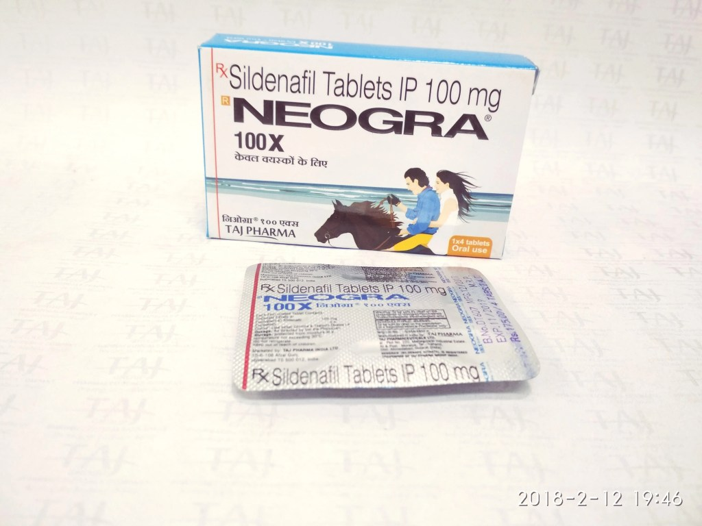 Neogra Tablets 100X (Sildenafil Citrate)