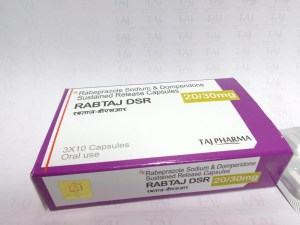 Rabeprazole Sodium & Domperidone SR Capsules-Rabtaj DSRTaj Pharmaceuticals, one of the leading Rabeprazole Sodium & Domperidone SR Capsules 20mg & 30mg (RABTAJ-DSR) manufacturers in India brings the best-quality products. Taj Pharmaceuticalscompany carries the rich experience in the niche manufacturing of Rabeprazole Sodium & Domperidone SR Capsules 20mg & 30mg (RABTAJ-DSR).