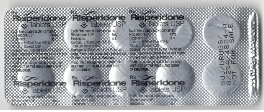 What is risperidone 4 mg used for