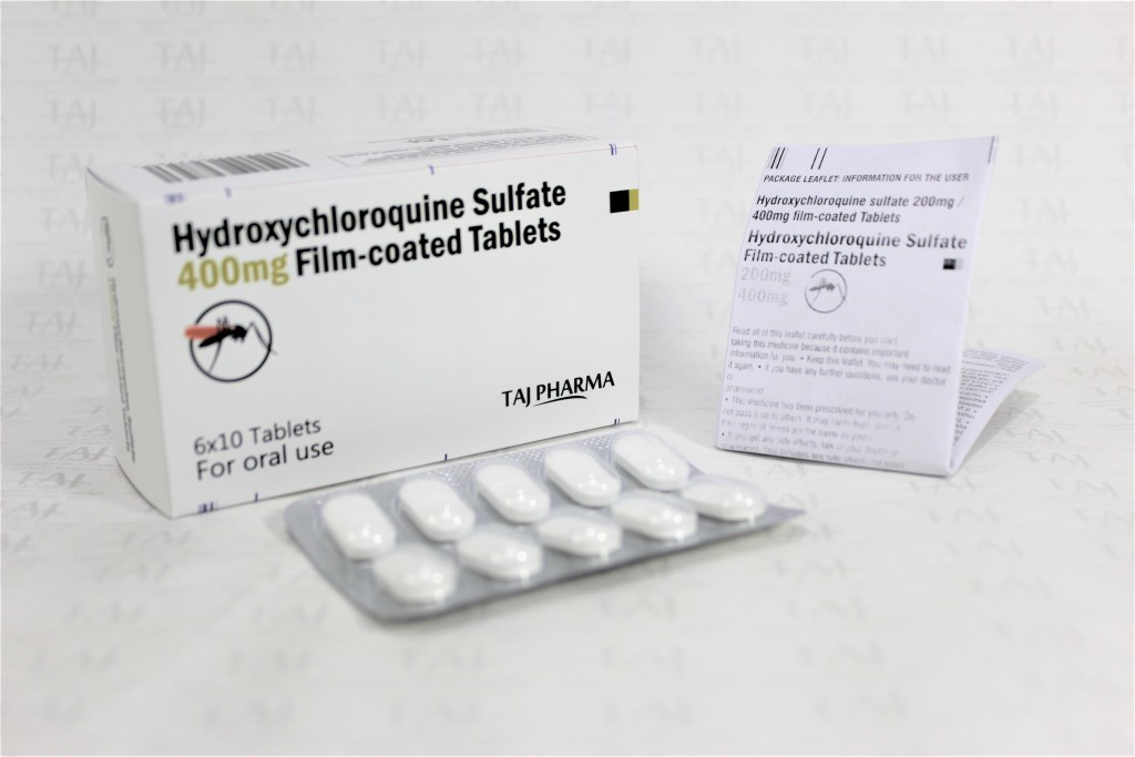 Hydroxychloroquine sulphate 400mg tablets available with manufacturer in India details ? Taj Pharmaceuticals Hydroxychloroquine sulphate 400mg tablets, Hydroxychloroquine sulphate 400mg tablets Products in India, exporters, Generic Medicines product, Generic Manufacturers exporters India