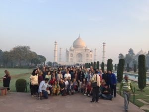 Group of people at Taj Mahal india