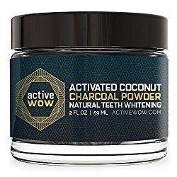 مسحوق تبييض الأسنان بالفحم الطبيعي من ACTIVE WOW