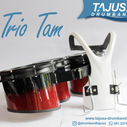 Trio Tam marching band dengan harnes fiber