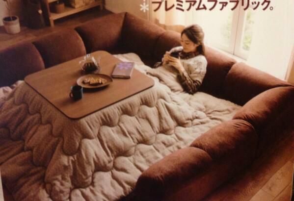 こたつをぐるりと囲むクッションソファー:ベルメゾンネットのダブルコーナークッションセットに心ひかれてやばい