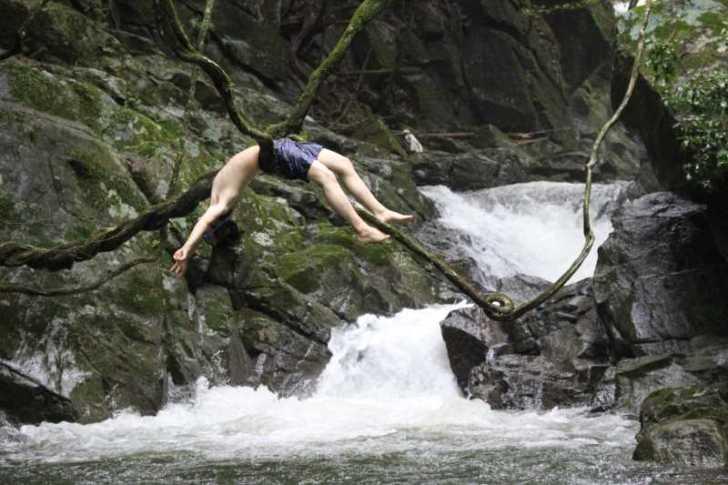 新城市作手地区「保永の三滝」の水難事故動画リベンジしたかったけど・・・「アー!」 (4)