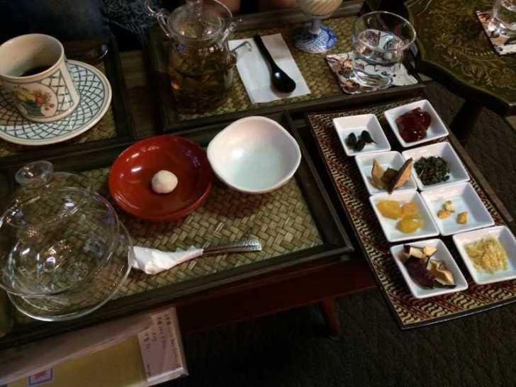 maruya(まるや)コーヒー、季節のタルト、ほうじ茶プリン、八宝茶 (6)
