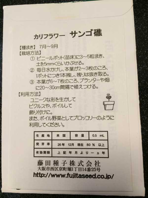 【珍しい野菜栽培】2.育てるレア野菜の種は通販で。藤田種子で発注しました! (4)