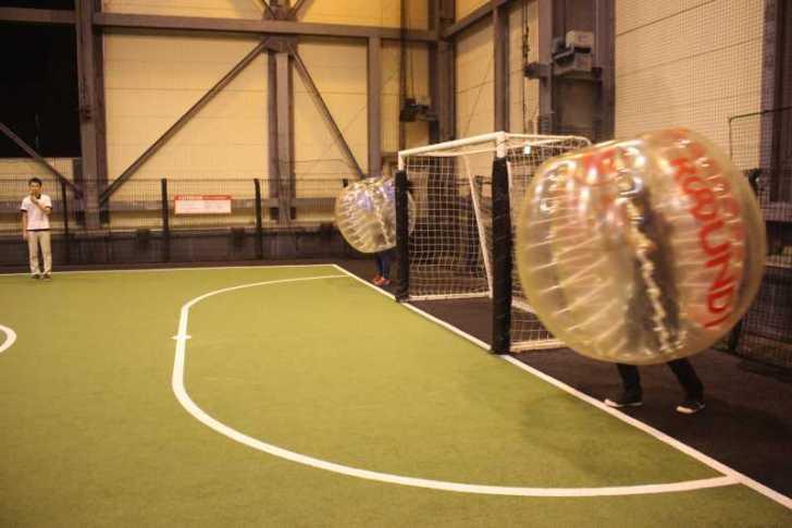 「健康維持にバブルサッカー」若者議会の医療チーム政策が新聞に取り上げられたし、バブルサッカーをやってみた! (7)