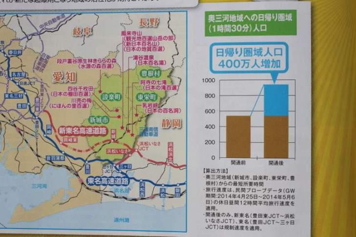 【朗報】新東名が全線開通で奥三河の日帰り圏域人口400万人増加!おすすめスポットは? (3)
