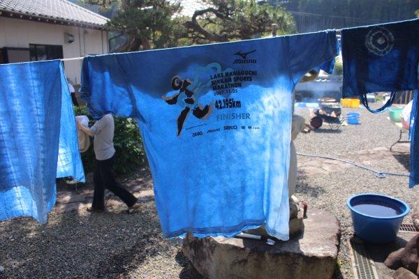 草木染め染色体験ふたたび。藍染めTシャツの作り方を研究してみたよ! (14)