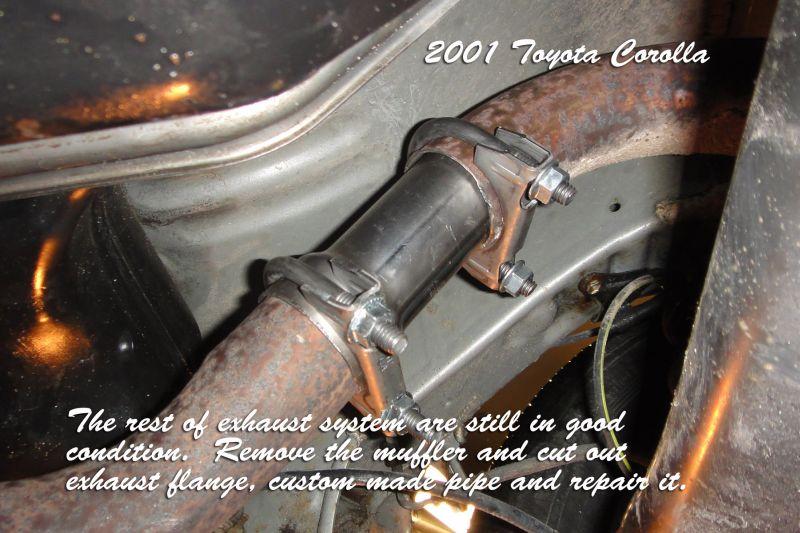 Exhaust repair 2001 Corolla