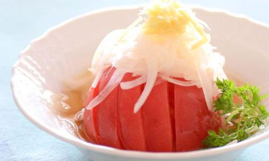トマトと玉ねぎの甘酢かけサラダ