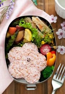 Cherry Blossom Rice Ball Bento funbentobox.com