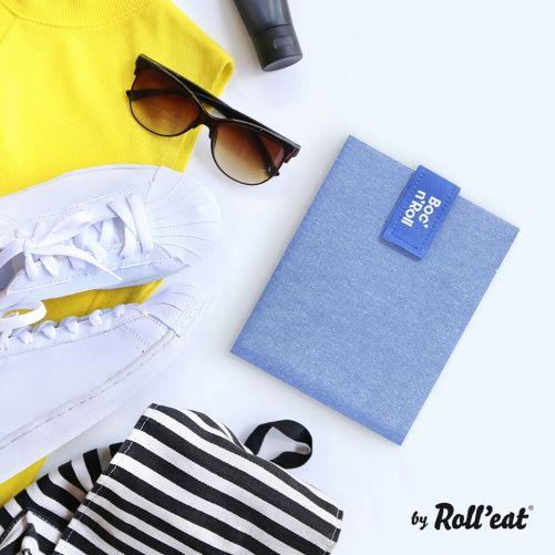Roll'Eat Boc'n'Roll herbruikbare lunch wrap blauw