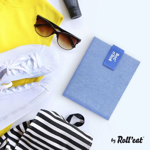 Roll'Eat Boc'n'Roll herbruikbare lunch wrap blauw