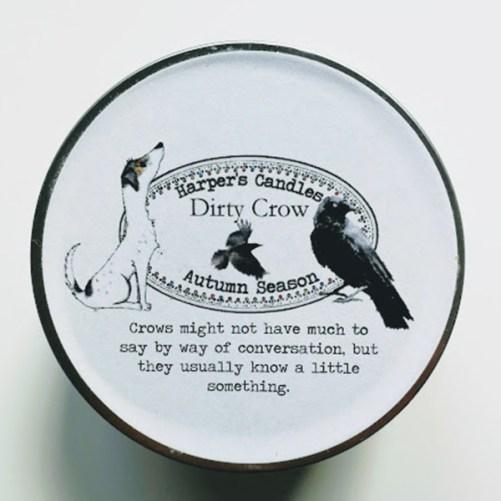 Harper's Candles Dirty Crow vegan geurkaars