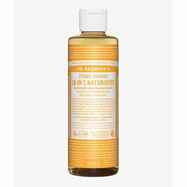dr bronner citrus orange pure castille soap 475ml vegan