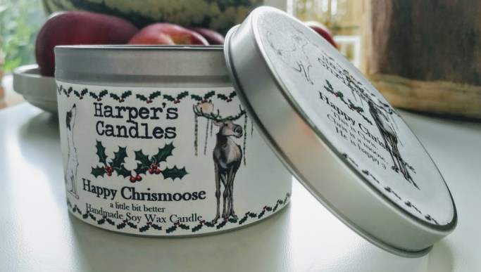 vegan geurkaars happy chrismoose harper's candles