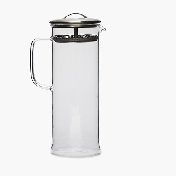 glazen theepot met zeef - Paper & Tea - Large cylinder pot 1 liter