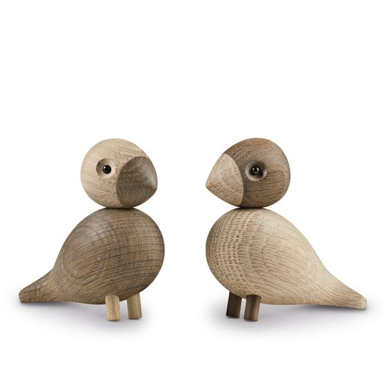 Kay Bojesen Lovebirds eikenhouten design object