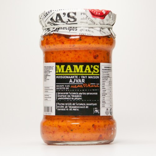 Mama's Ajvar paprika en aubergine saus vegan