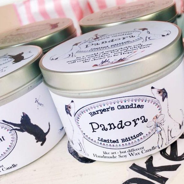 vegan geurkaars Pandora Harper's Candles