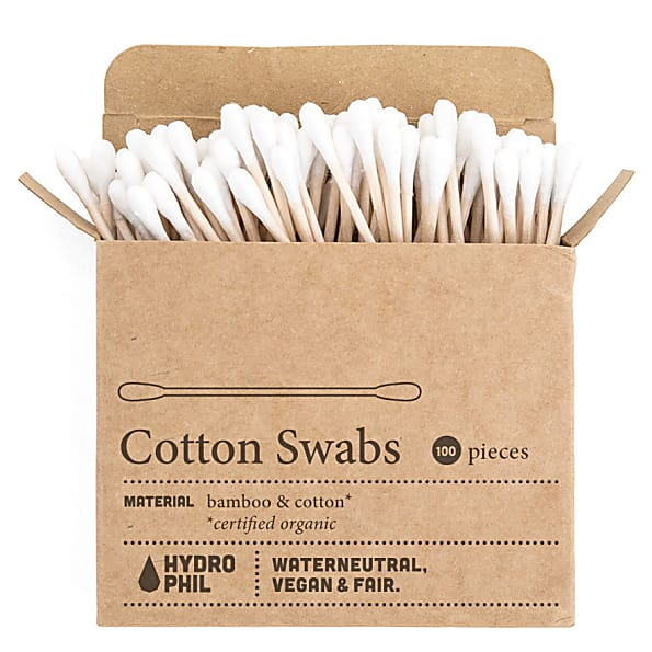 wattenstaafjes Hydrophil zero waste cotton swabs 100st