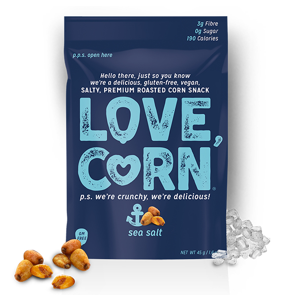 Love Corn Sea Salt knapperige maïskorrels
