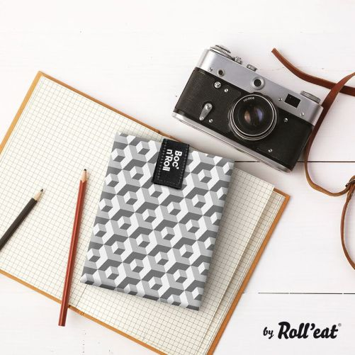 Roll'Eat - Boc'n'Roll Tiles - herbruikbare lunch wrap zwart