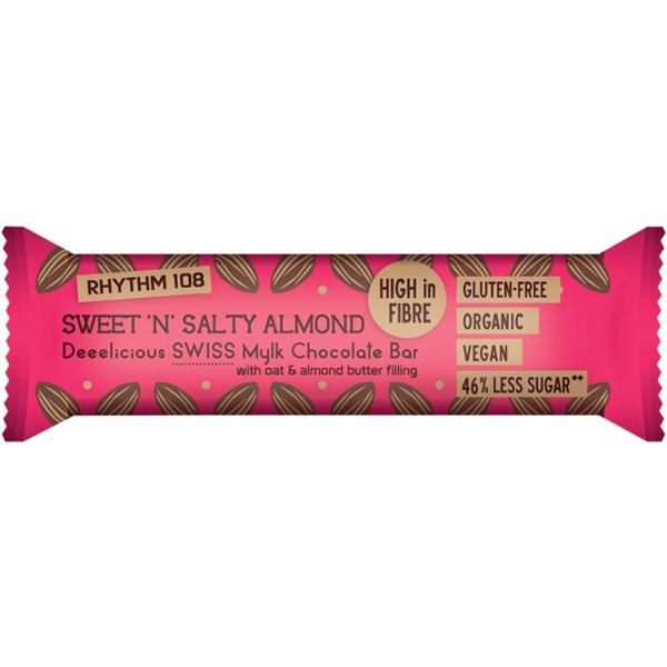 chocoladereep Rhythm 108 Sweet 'N' Salty Almond vegan