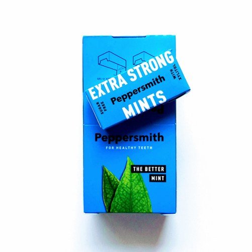 vegan pepermuntjes Peppersmith Extra Strong Mints