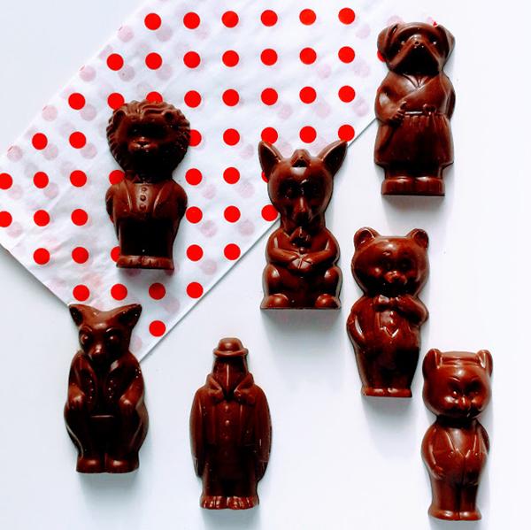Loulou's chocolate diertjes praliné