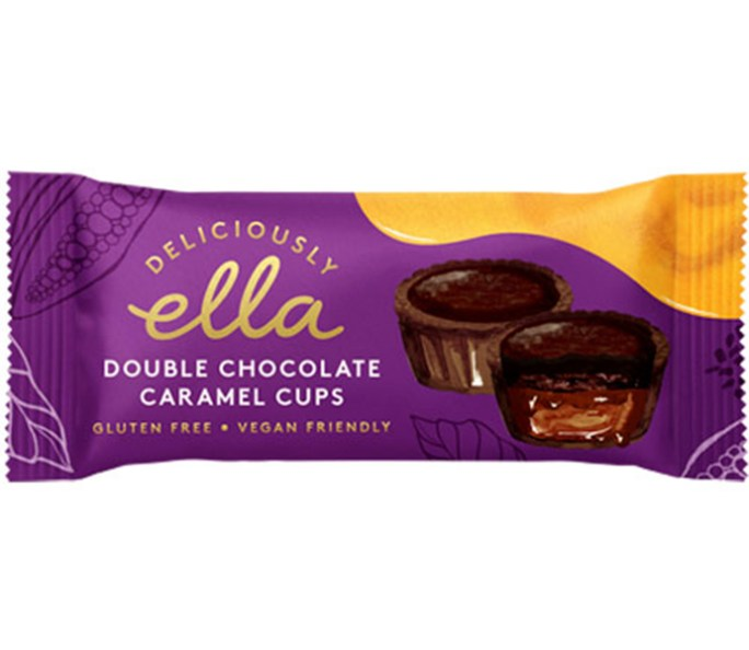 double chocolate caramel cups deliciously ella vegan