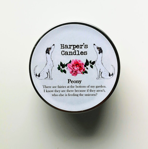 Harper's Candles Peony vegan geurkaars