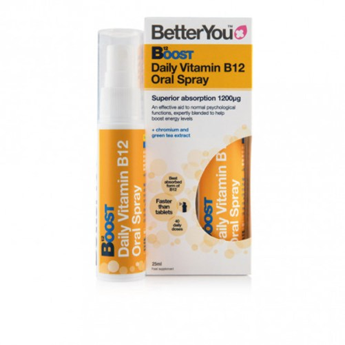 BetterYou Boost B12 Mondspray vegan supplement