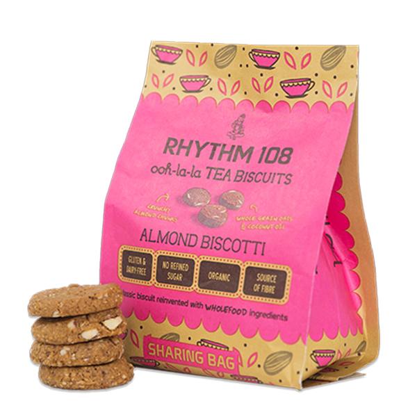 Rhythm 108 Almond Biscotti 135gr vegan