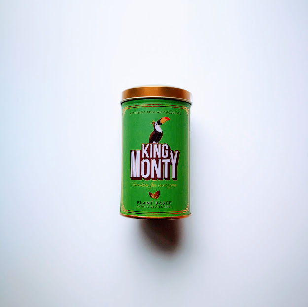 Hazelnut Crunch Tin King Monty vegan chocolade 130gr