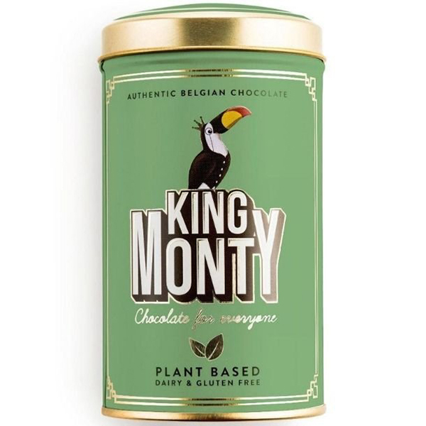 Hazelnut Crunch Tin KIng Monty vegan chocolade lactosevrij
