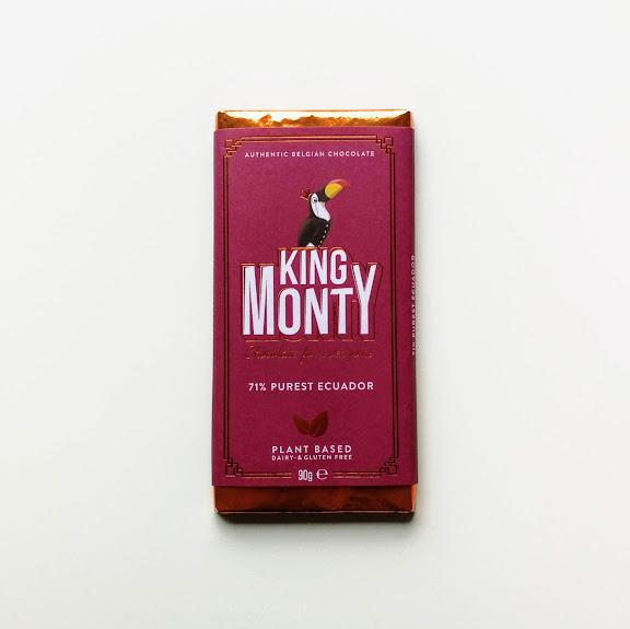 King Monty Purest Ecuador vegan belgische chocoalde