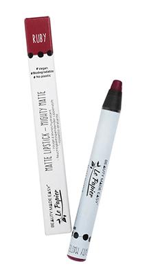 Le Papier Mat Ruby vegan lipstick zero waste