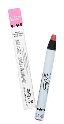 le papier glossy blossom vegan lipstick zero waste