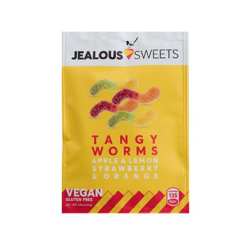 jealous sweets tangy worms vegan snoep 40gr