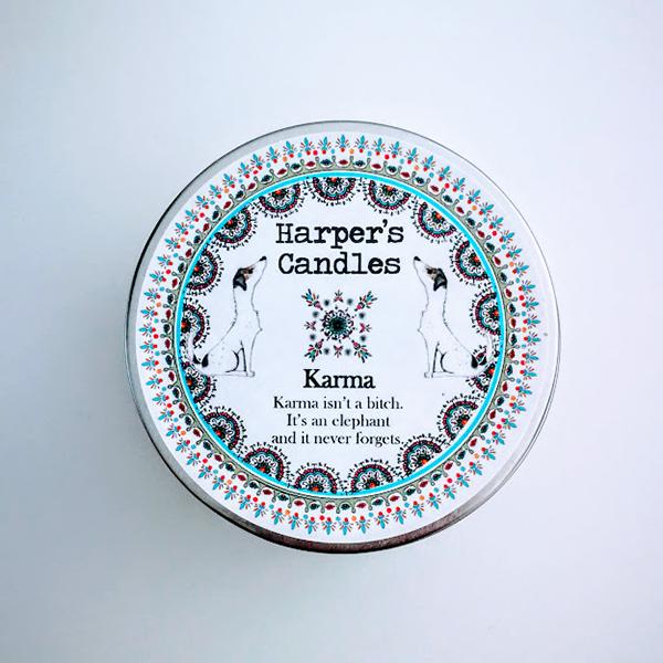 harper's candles karma vegan geurkaars