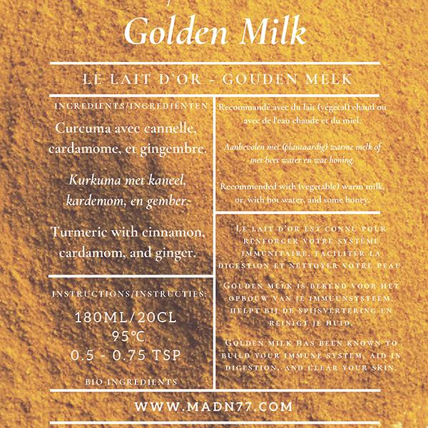Madn77 Golden Milk gouden melk